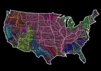 Drainage Basins of the contiguous US.