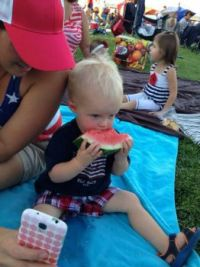 John with watermelon
