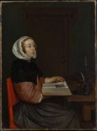 The Reader by Eglon van dear Neer, Dutch. circa 1665