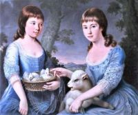 Elizabeth and Mary Chichester as children (1777)