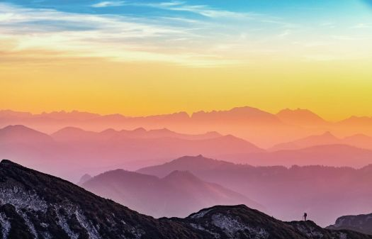 pastel colors mountains