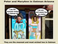 The meanest two in Oatman AZ