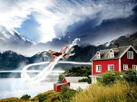 PC-7 in Action Over Norway