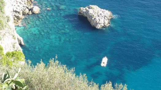 Clear blue waters of the Isle of Capri