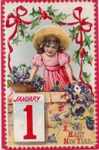 New Year's Postcard, 1910