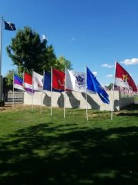 FLAGS ON DISPLAY IN PRESCOTT FOR CEREMONY ON 9-11