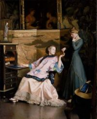 """William McGregor Paxton, """"The New Necklace"""""""
