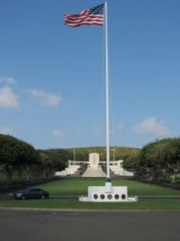 Punchbowl National Cemetry on the Pacific