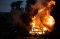 Midsummer celebration bonfire in Frederiksberg, Denmark