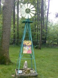 Wind Mill in the Garden