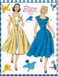 Vintage Fashion Butterick 1953 Misses' Dress