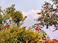 NEPAL – Kathmandu Valley – View of the Himalayas (background)