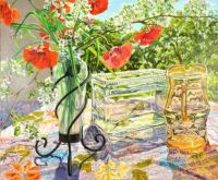 Orange Poppies and Fish Bowl by Janet Fish