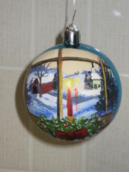 Hand painted ornament. Thank you for the inspiration Texasstar7.