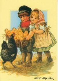 Children with Chicks