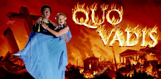 QUO VADIS - 1951 MOVIE POSTER - ROBERT TAYLOR, DEBORAH KERR