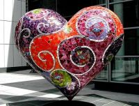 heart statue