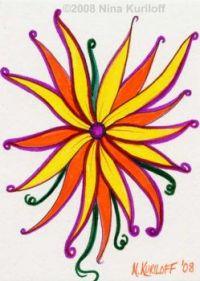 Colorful Daisy-like flower