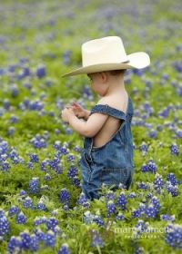 For Tex (Sis) Even rough and tough cowboys love Texas Bluebonnets.