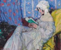 Ulisse Caputo (Italian, 1872–1948), La Liseuse