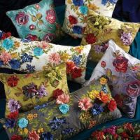 FLOWERS ON CUSHIONS