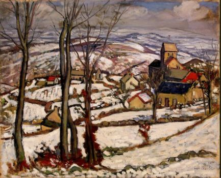 Village at Morvan under Snow Charlot Luis