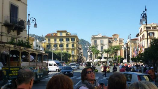 Adorable Luka described the center of Sorrento to the group