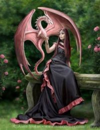 elegant dragon by anne stokes