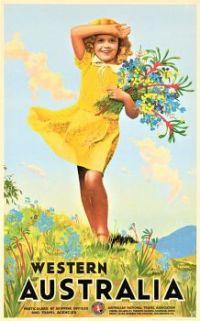 Themes Vintage Travel Poster - Western Australia