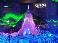 Christmas laser show, Tokyo