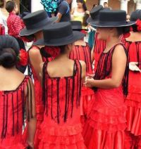 Santa Barbar Fiesta Parade - Girls in Red