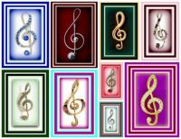 Lefovers - Treble Clef Brooches