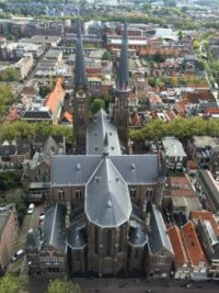 "View from the New Church Delft: You see here the ""Maria Jesse Church""."