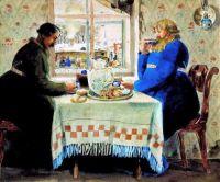 Boris Kustodiev  - A coachman at a Pub 1920