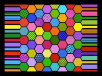 Colorful Hexes!  (XL)