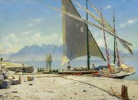 "Peder Mørk Mønsted, ""A View of Vevey"" 1887"