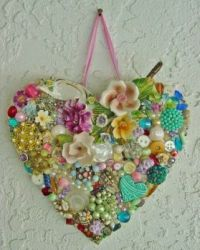 A Precious Heart Shape Made From Found Objects