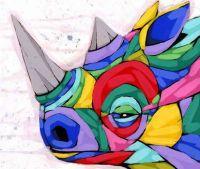 colorful rinoceros