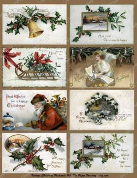 Vintage Christmas Cards: Large