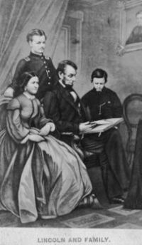 President Abraham Lincoln and family 001