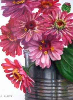 Zinnias in a Can
