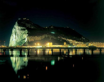Gibraltar night and lights