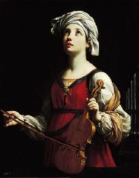 Saint Cecilia patron of musicians by Guido Reni (1606)