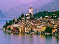 Dusk at Malcesine, Lake Garda, Italy