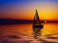 Sunset sail and relaxation