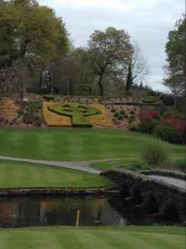 Tee of the 12th on Druids Glen golf course, Ireland