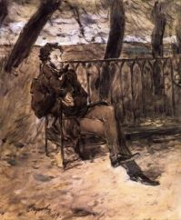Valentin Serov--Alexander Pushkin on a Park Bench, 1899