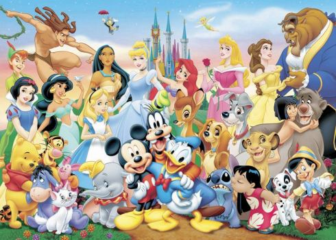 the whole disney gang