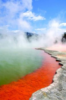 The Champagne Pool - Waiotapu, New Zealand
