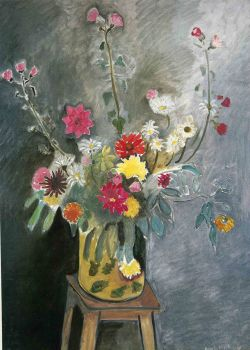 Bouquet of mixed flowers -  1917